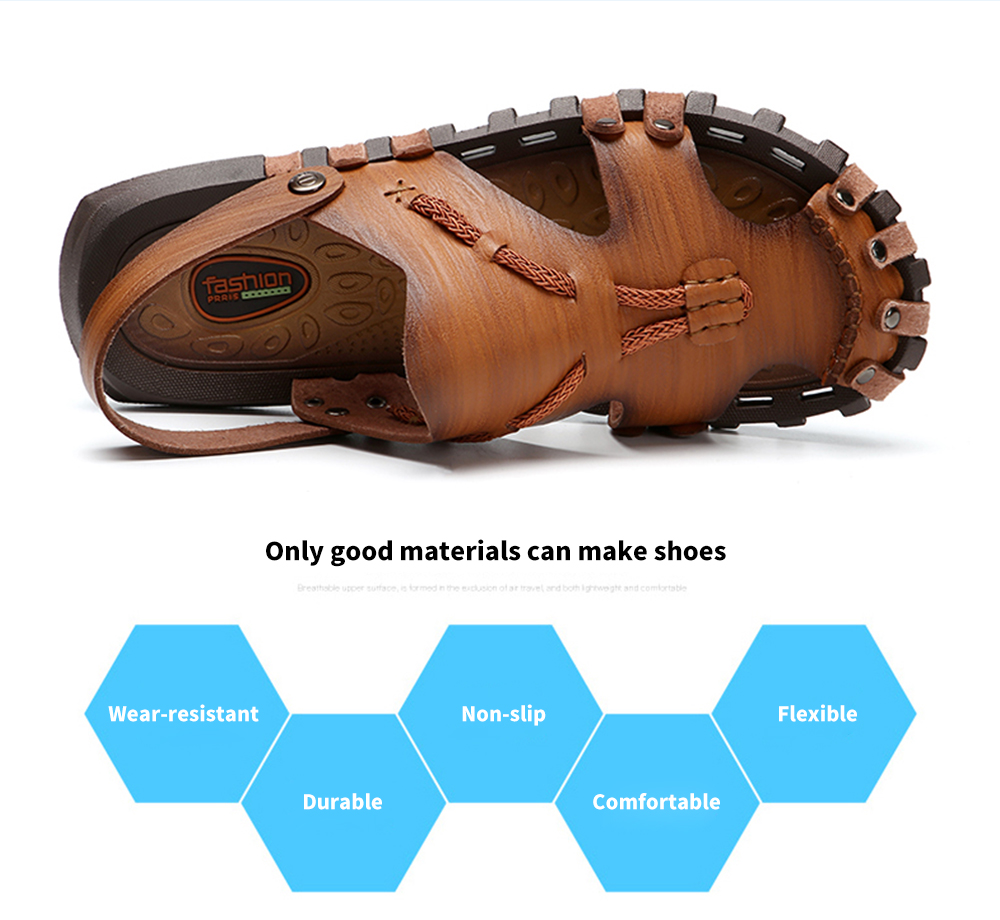AILADUN Dual-use Hand Stitched Leisure Male Sandals Only good materials can make shoes