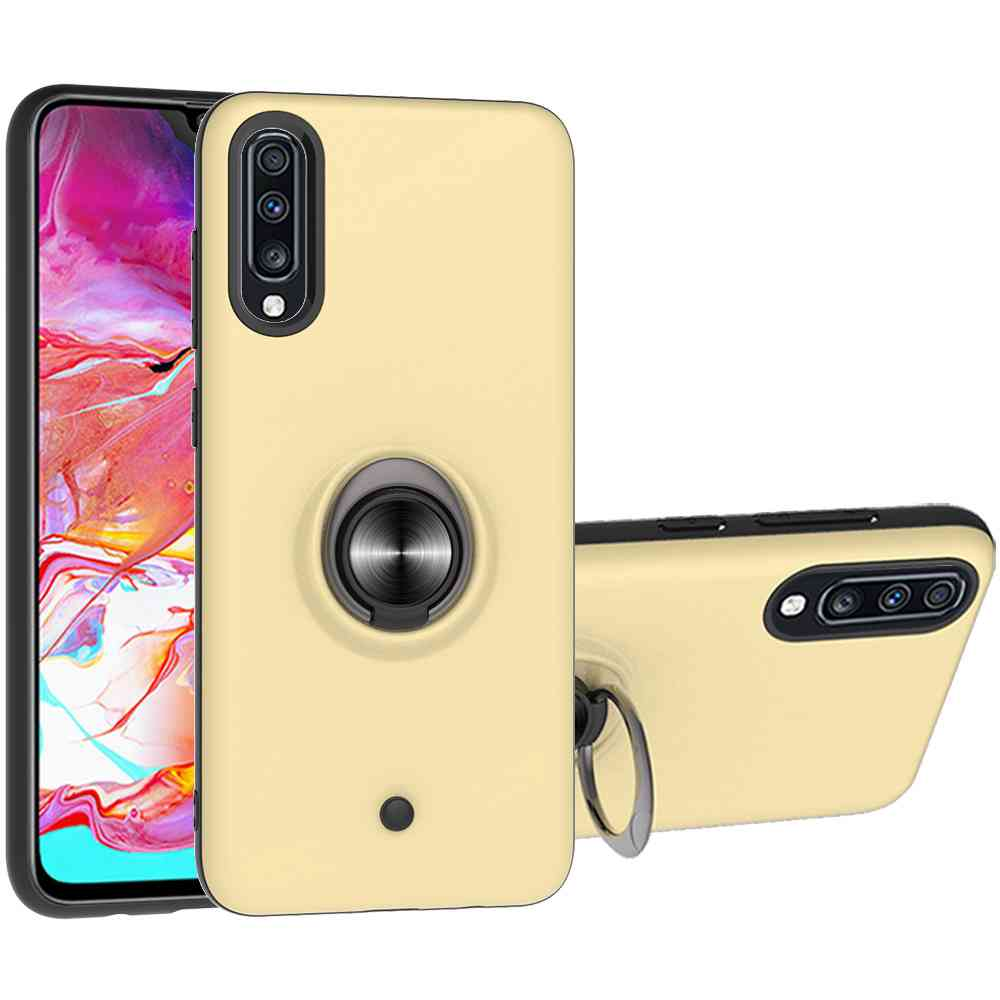 2-IN-1-GYRO Decompression Phone Case for Samsung Galaxy  A70 / A70S - Gold