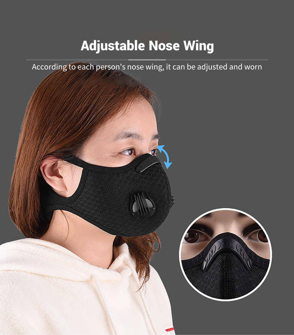 Bicycle Riding Mask Breathable Mesh Cycling Face Masks Adjustable Nose Wing