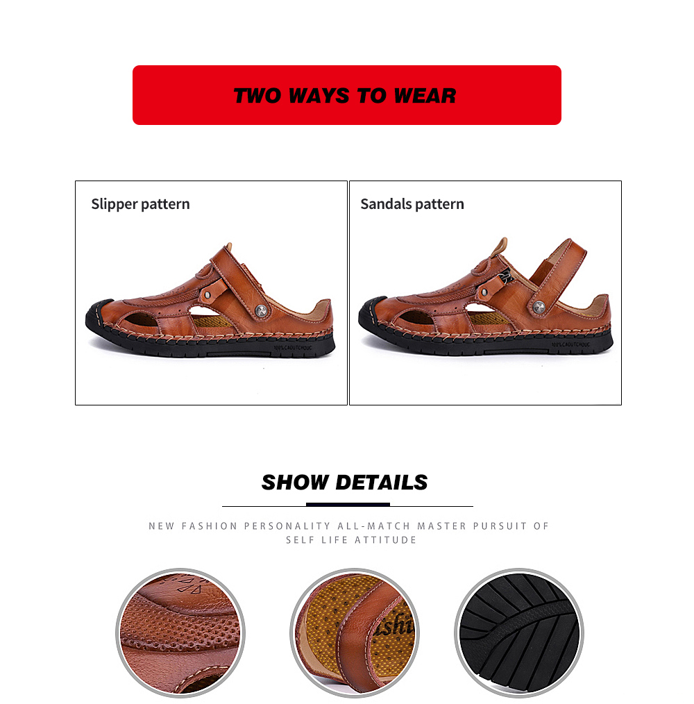 IZZUMI Men Sandals Summer Beach Holiday Slippers Two ways to wear