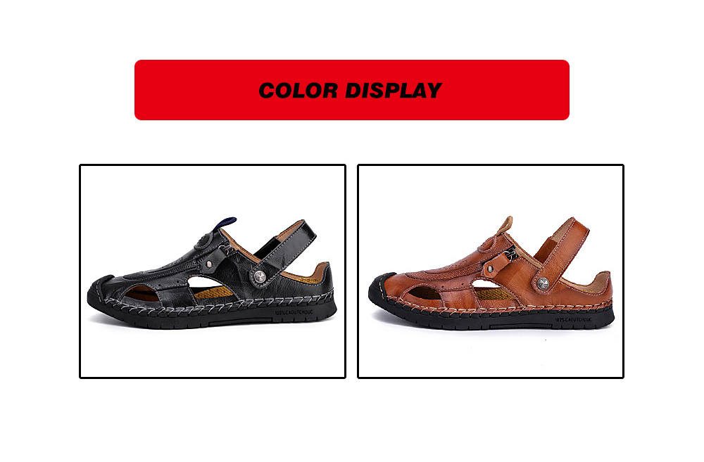 IZZUMI Men Sandals Summer Beach Holiday Slippers color display