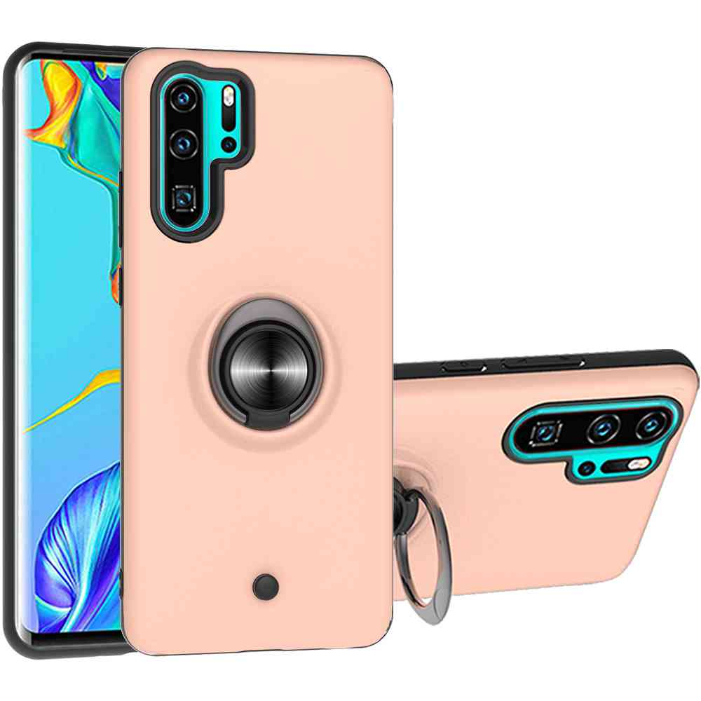 2-IN-1-GYRO Decompression Phone Case for Huawei P30 Pro - Red Wine