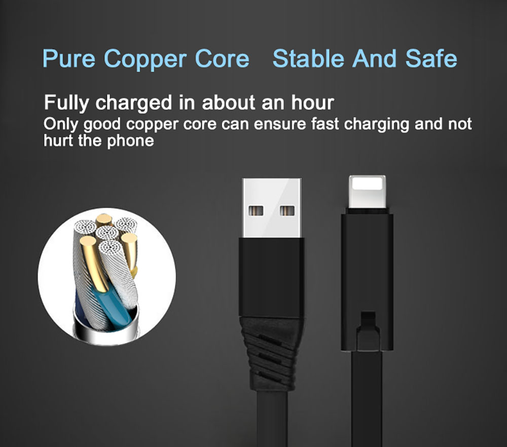 Micro Fast Charging Regenerate USB Cable 1.5M - Blue