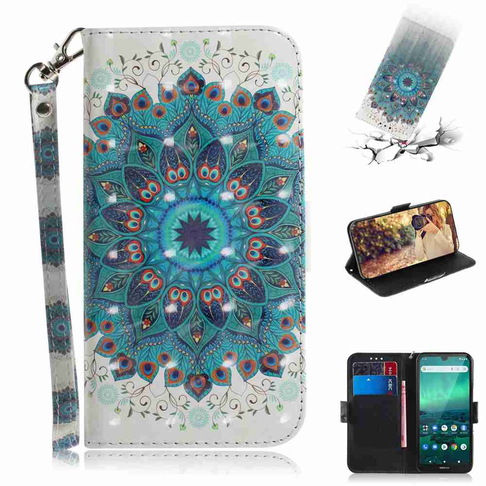Multi-Pattern 3D Painted Phone Case for Nokia 1.3 - Multi-Y
