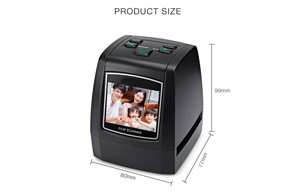 Bilikay 810CE 135mm / 126mm / 110mm / 8mm Negative High-resolution Film Scanner - Black