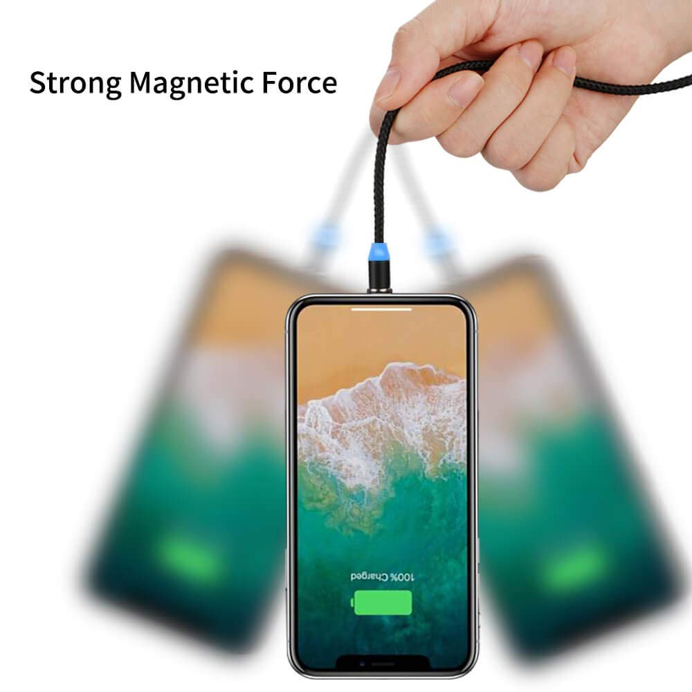 Magnetic 3 in 1 8 Pin / Type-C / Micro USB Charging Cable Strong Magnetic Force