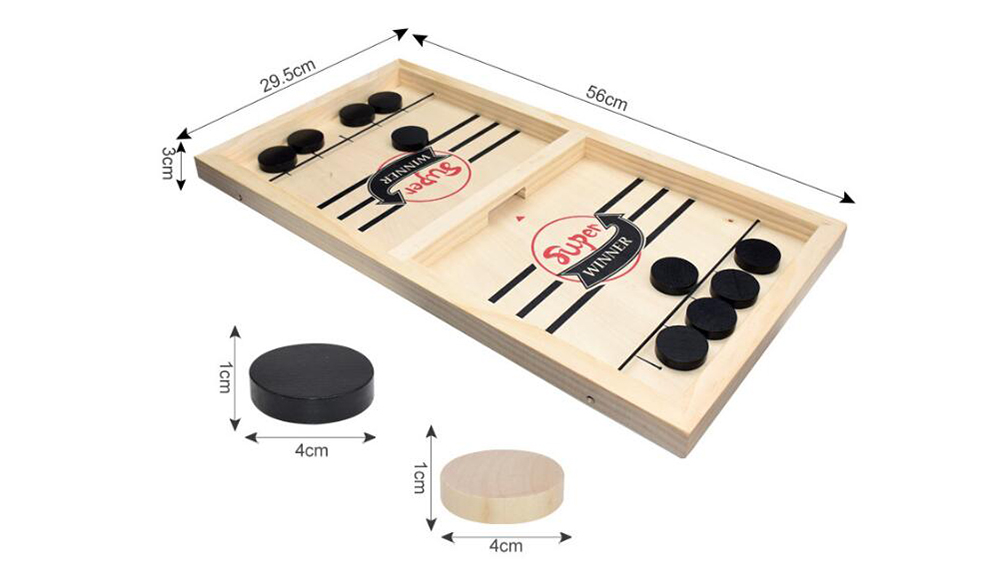 Double Play Catapult Wooden Chess Parent-Child Interaction Board Game Toys - Multi