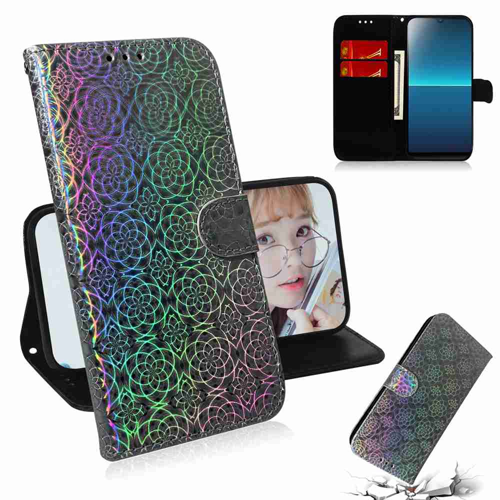 Solid Color Dazzling Phone Case for Sony L4 - Sky Blue