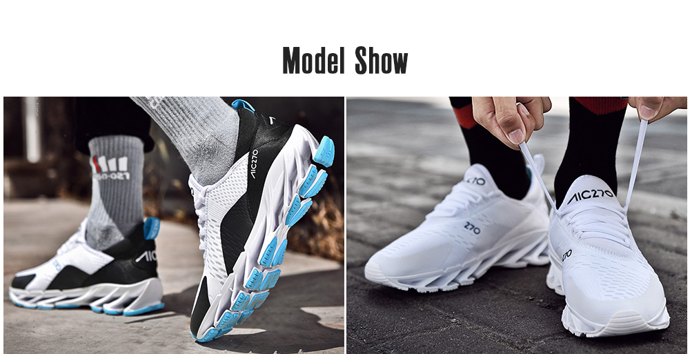 AILADUN Men's Sports Leisure Shoes model show