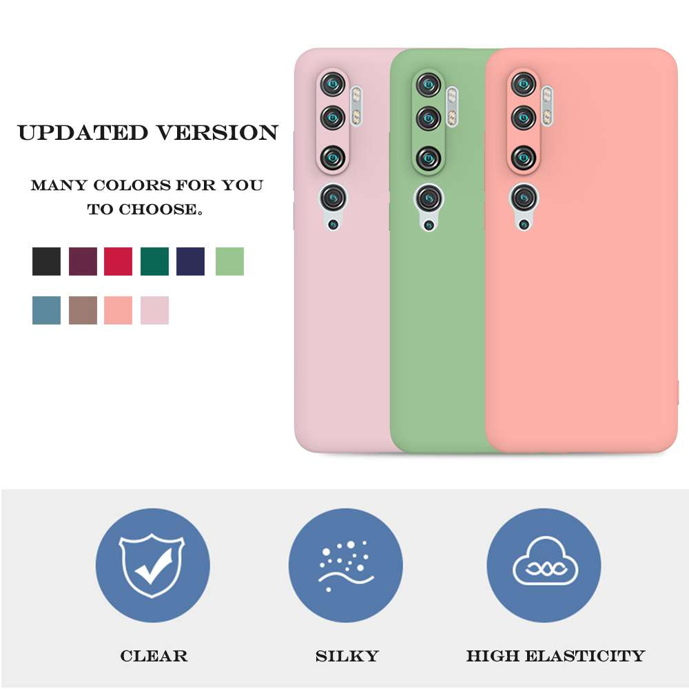 Matte TPU Solid Color Phone Case for Xiaomi Cc9 Pro / Note 10 / Note 10 Pro - Pink