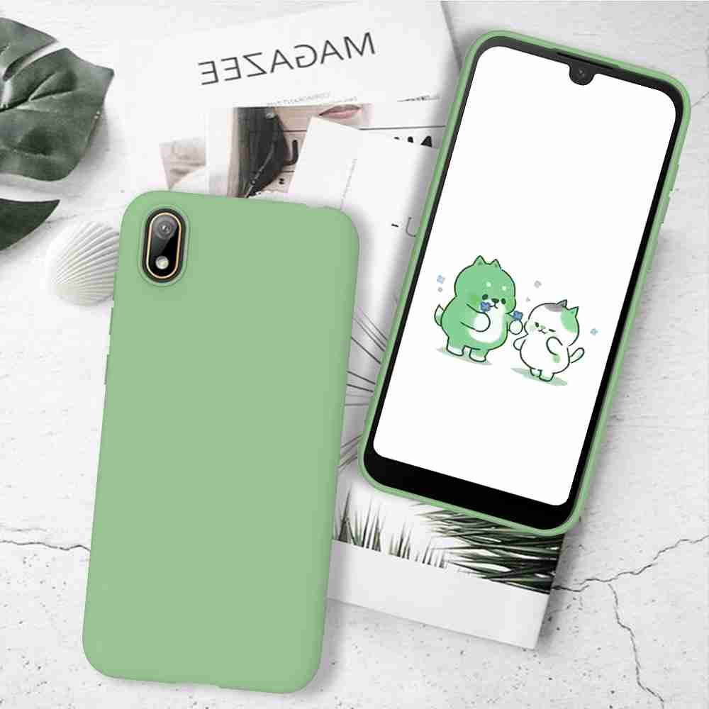 Matte TPU Solid Color Phone Case for Huawei Y5 2019  / Honor 8S - Black
