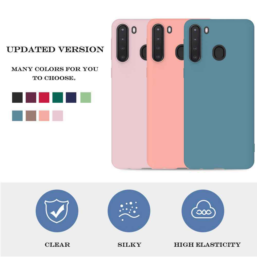 Matte TPU Solid Color Phone Case for Samsung Galaxy A21 - Maroon