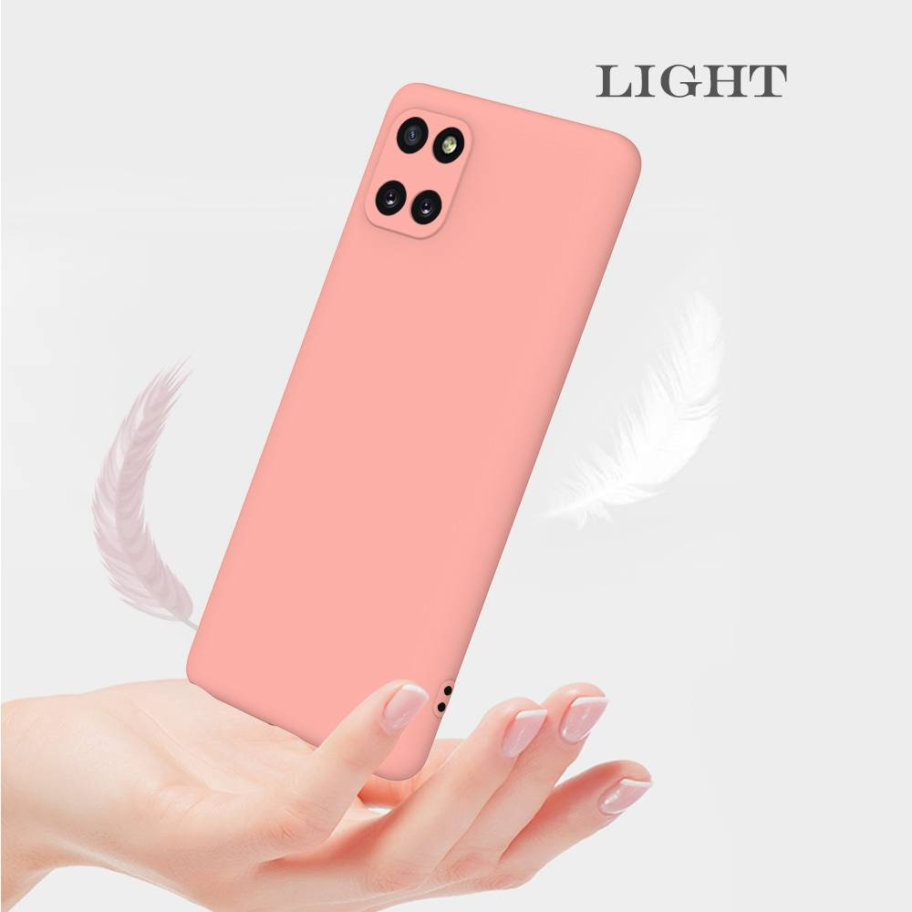 Matte TPU Solid Color Phone Case for Samsung Galaxy Samsung Galaxy A81 - Maroon