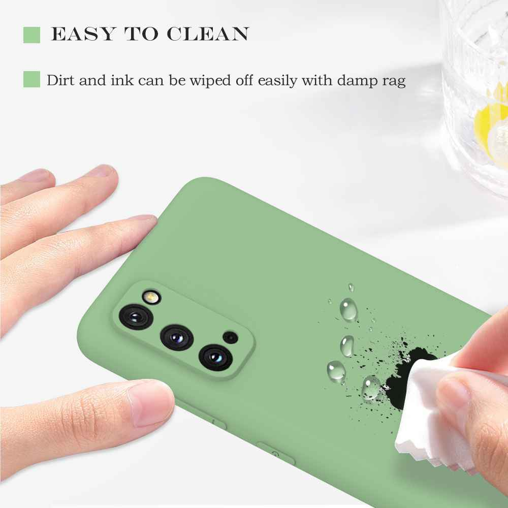 Matte TPU Solid Color Phone Case for Samsung Galaxy S20 - Light Green