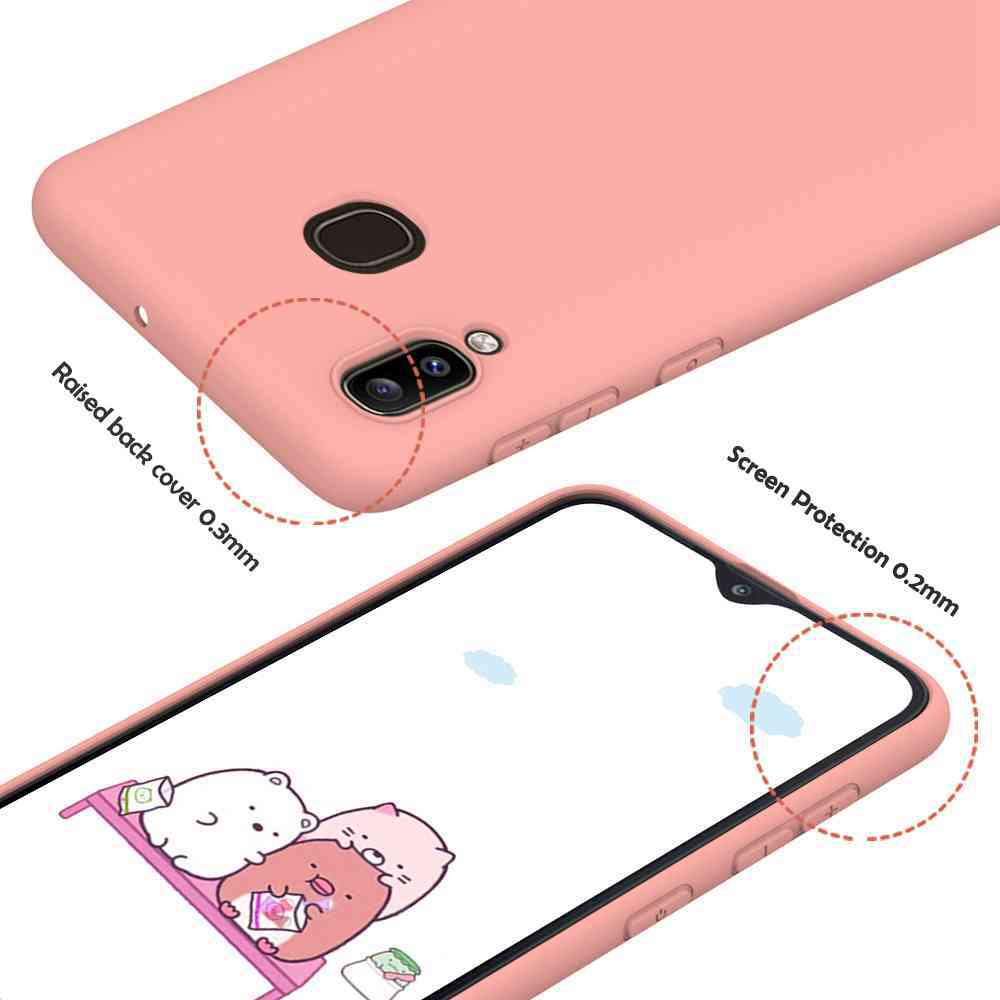 Matte TPU Solid Color Phone Case for Samsung Galaxy A20/ A30 - Pink