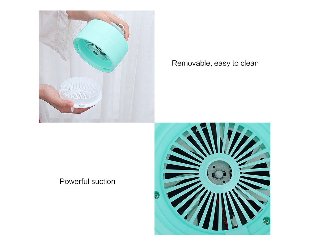 Brelong USB Photocatalyst Mosquito Repellent Lamp Portable Home Outdoor Camping Insect Killer Light - Blue Zircon