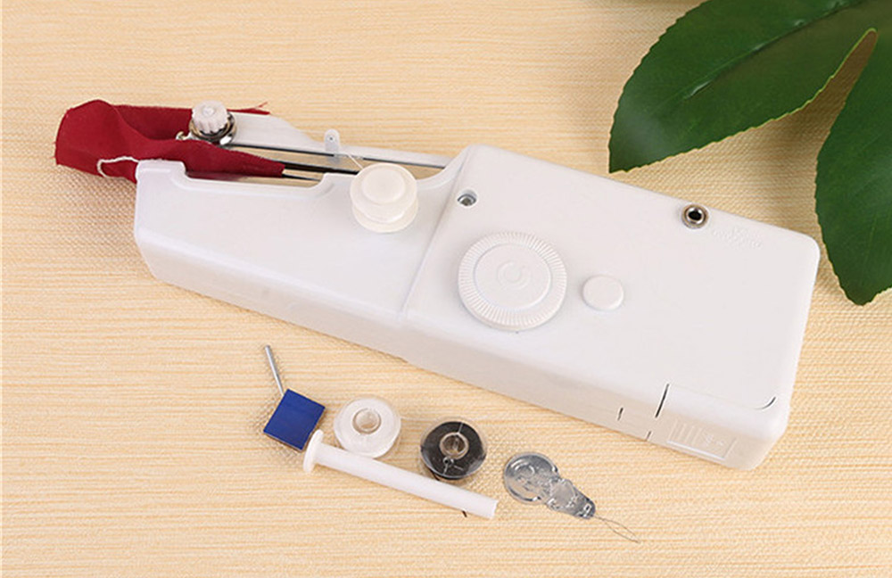 Handheld Mini Cordless Sewing Machine Quick Handy Stitch for Home and Travel Use - White