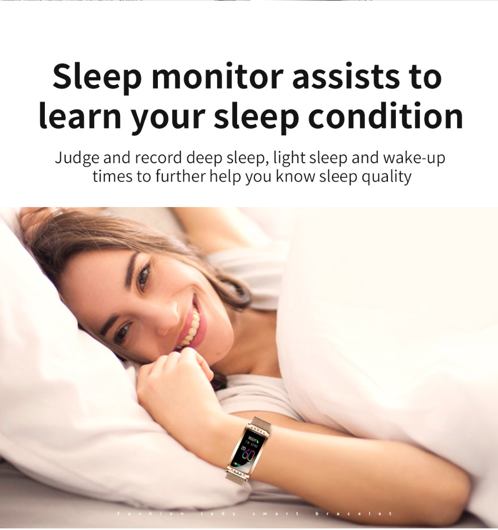 F28 Smart Bracelet Wristband Sleep monitor assists to learn your sleep condition