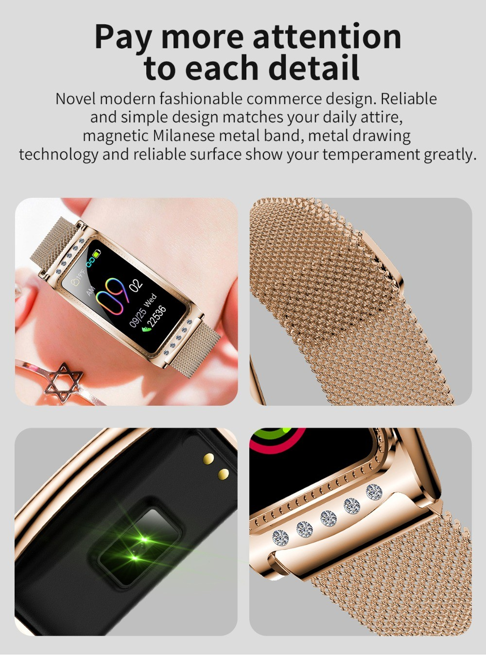 F28 Smart Bracelet Wristband Pay more attention to each detail