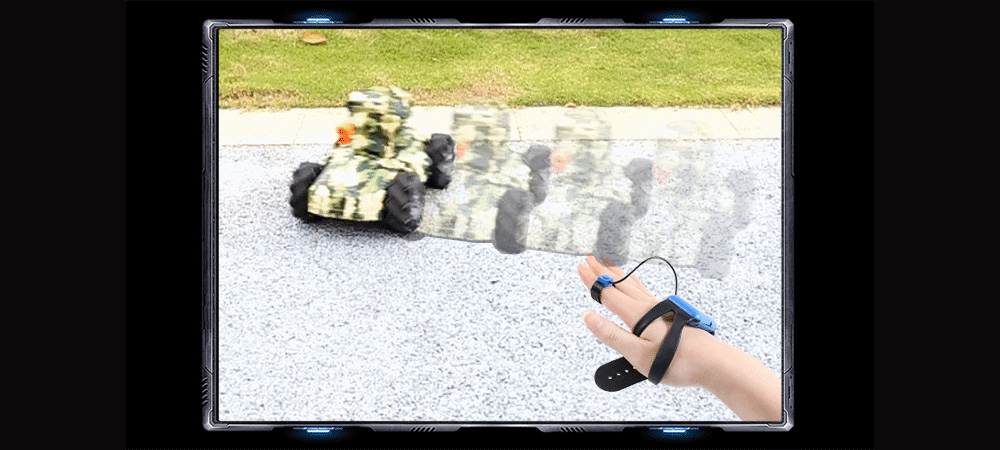 G1A Multifunction 2.4GHz Wireless Remote Control Water Bomb Drift Tank RC Stunt Car - Green One-handed Controller