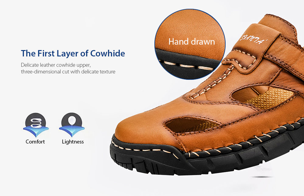 AILADUN Men Sandal The First Layer of Cowhide