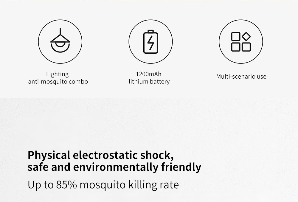 Y8RK Portable Physical Shock Insect Killers Physical electrostatic shock, safe and environmentally friendly