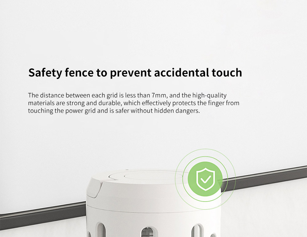 Y8RK Portable Physical Shock Insect Killers Safety fence to prevent accidental touch