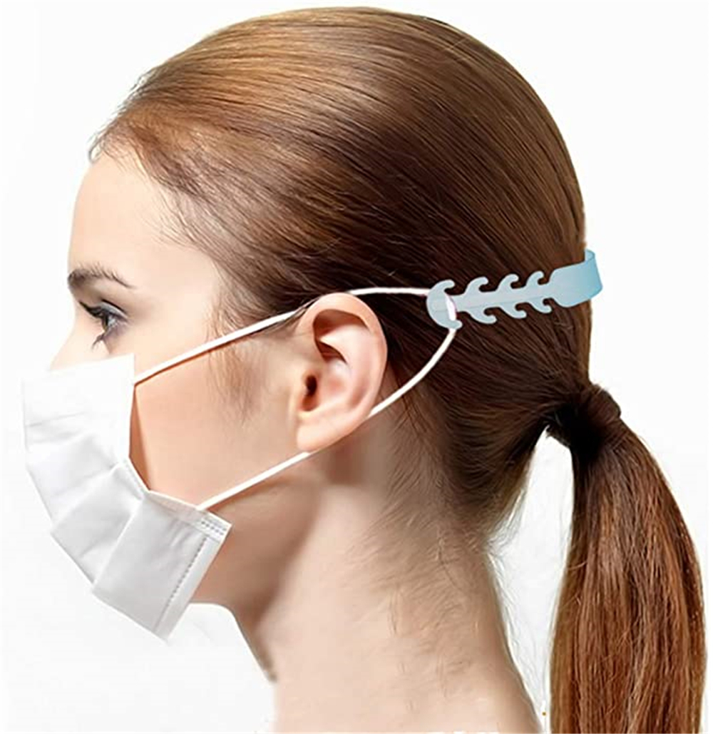 5 Pcs Face Mask Extension Strap for Relief Ear Protector Band Saver Extender - Light Blue