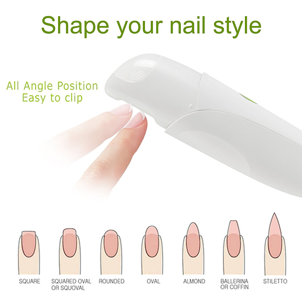 V1 Intelligent Electric Nail Clipper Automatic Adult Children Trimmer Manicure - White