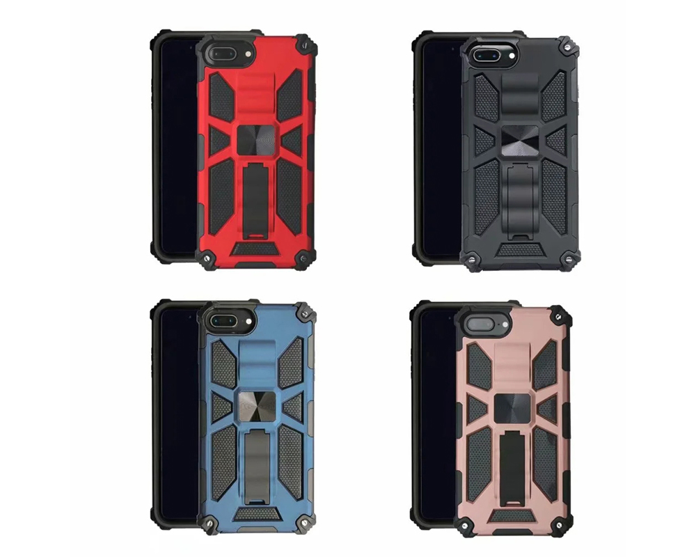 Anti-fall Bracket Protective Phone Case Cover for iPhone 7 Plus / 8 Plus / 6 Plus / 6S Plus - Black FOR IPHONE 6S PLUS