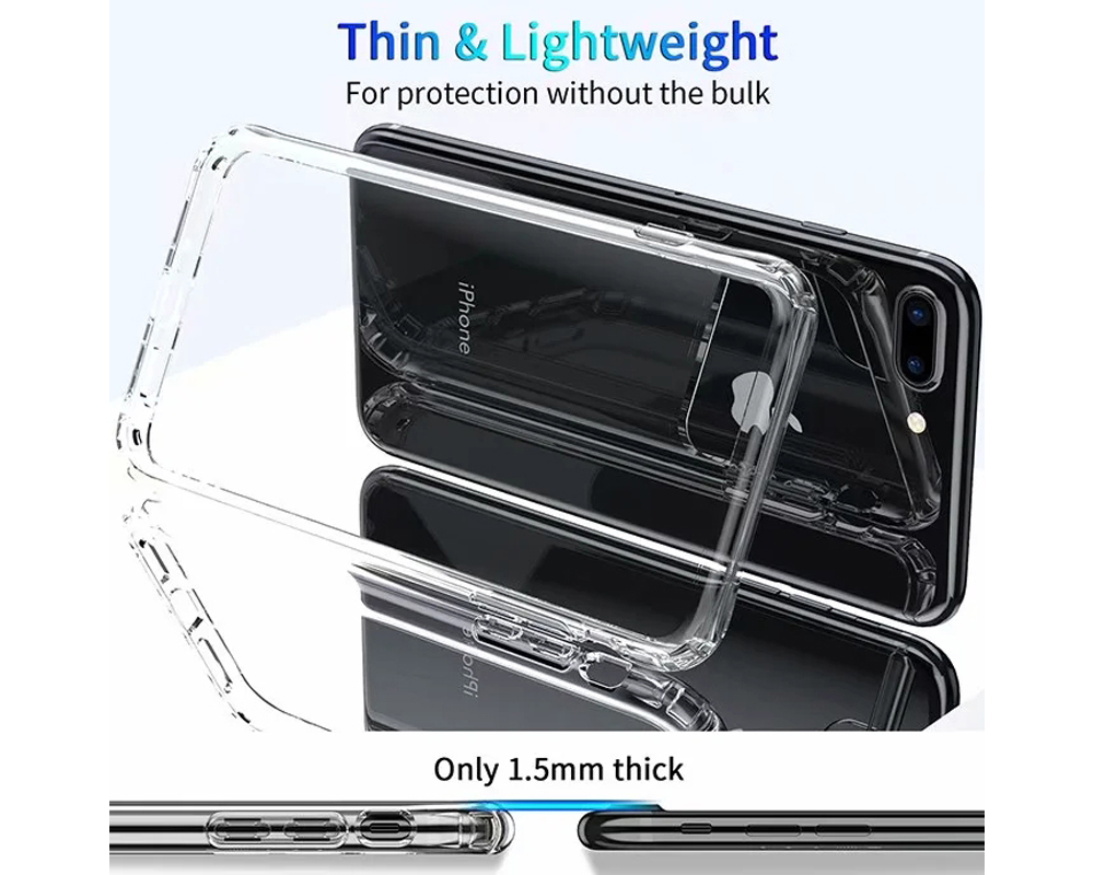 Acrylic Anti-fall Protective Phone Case Cover for iPhone 7 Plus / 8 Plus - Transparent For iPhone 8 Plus