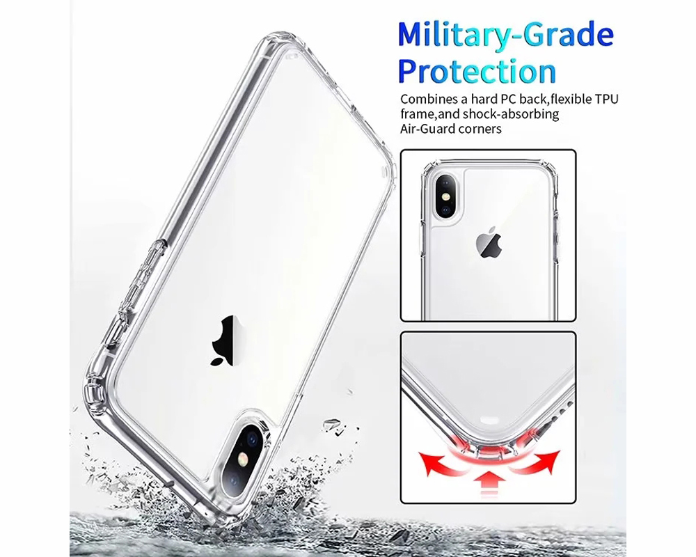 Acrylic Anti-fall Protective Phone Case Cover for iPhone XS Max / XR / XS / X - Transparent For iPhone XR