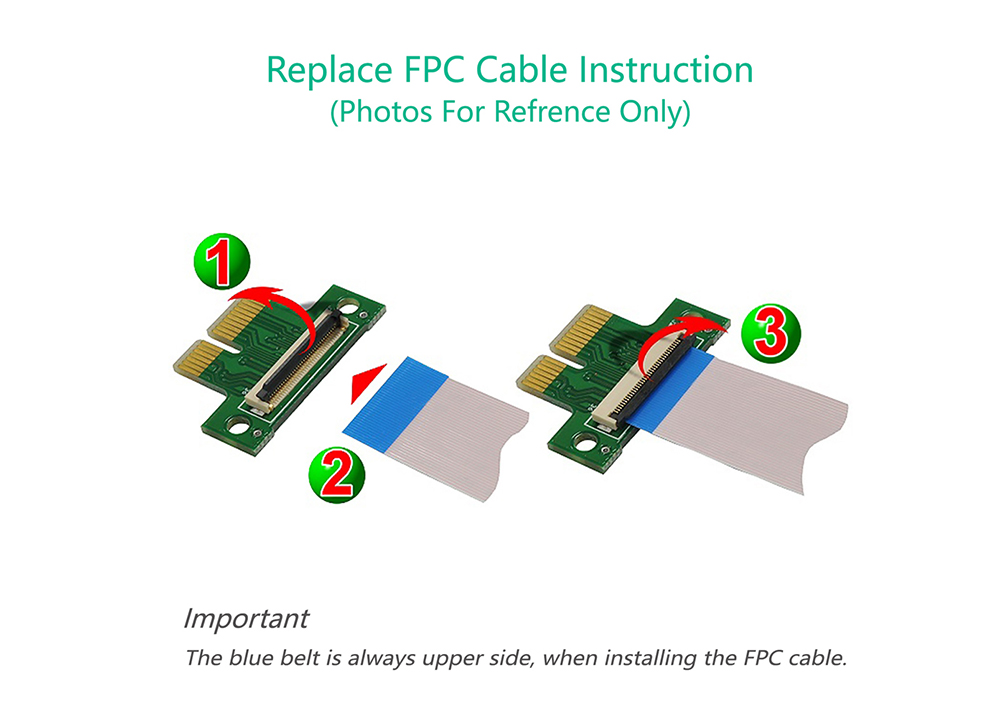 PCI Express 1X 36Pin Extender Extension Adapter with FPC Cable Ublic to Public Extension Line - White