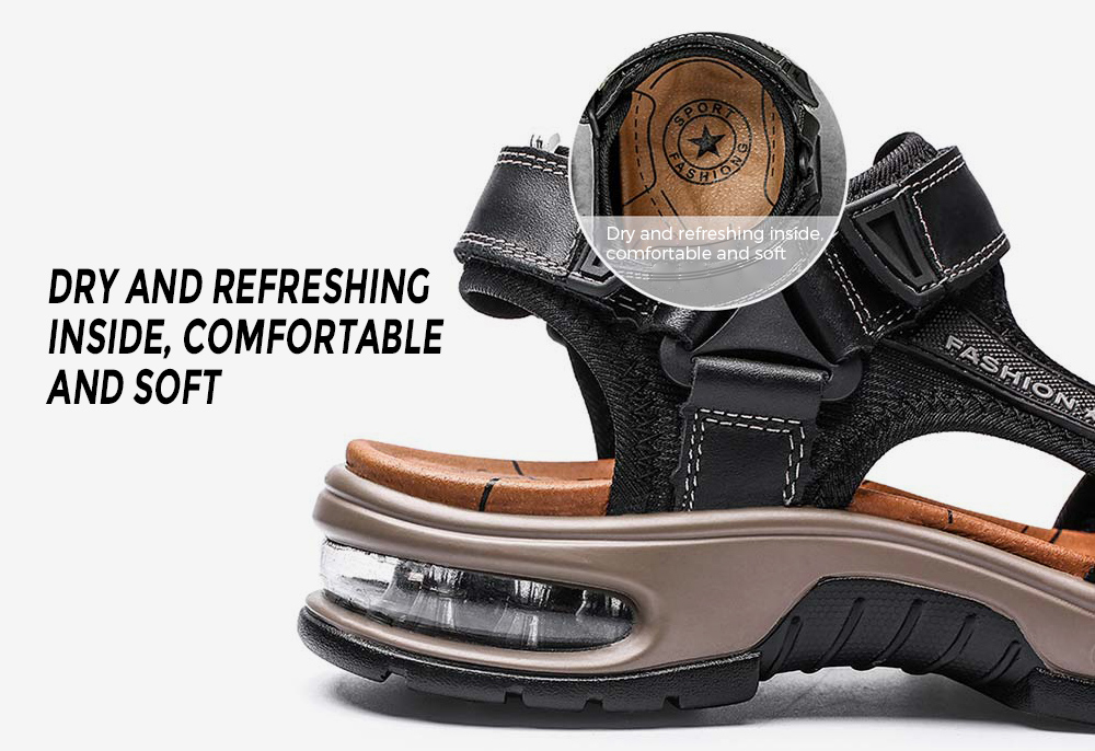 SENBAO 2026 Cowhide Cushion Sandals Dry and refreshing inside, comfortable and soft