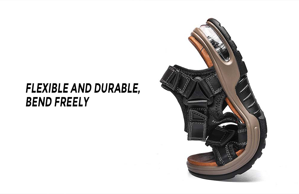 SENBAO 2026 Cowhide Cushion Sandals Flexible and durable, bend freely