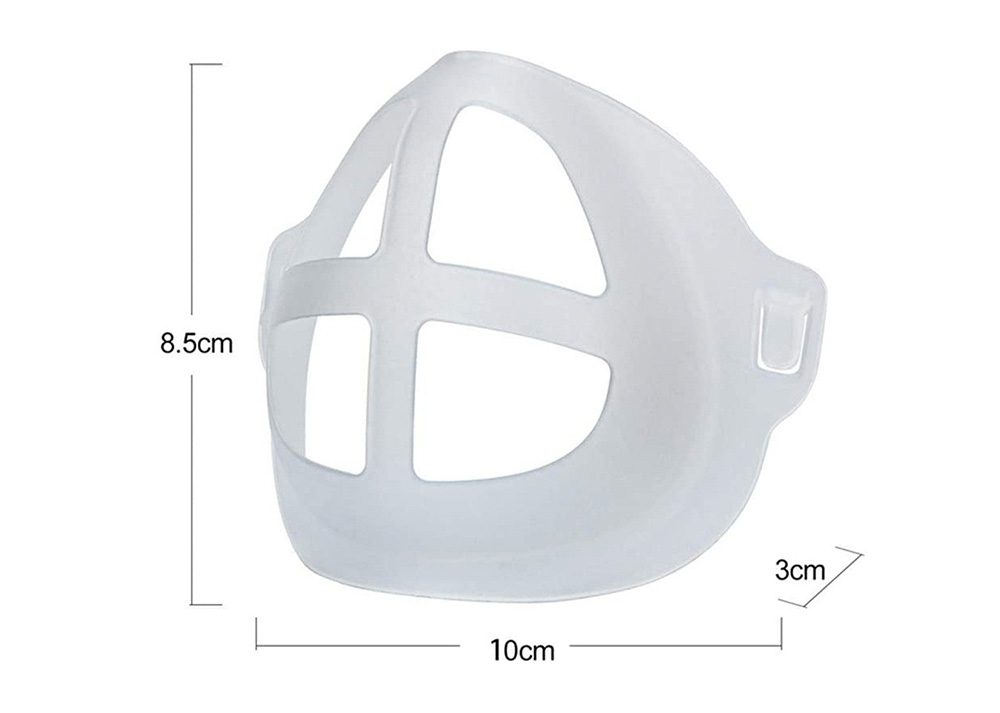 3D Face Mask Inner Pad Bracket Holder Safe and Dustproof Not Stain Lipstick - Transparent 5pcs