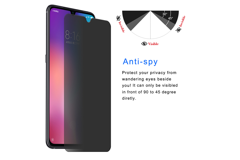 ENKAY 0.26mm 9H 2.5D Anti-peeping Screen Protector for Xiaomi Mi 9 / 9 SE / 9 Transparent Exclusive Edition / Mix 3 / HUAWEI Nova 4 - Transparent for Xiaomi Mix 3