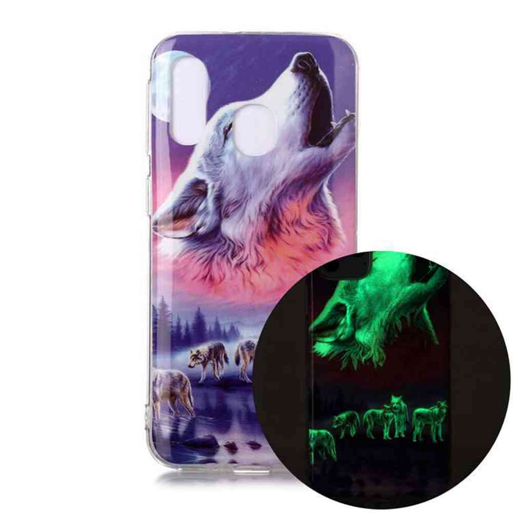 Luminous Painted Upscale TPU Phone Case for Samsung Galaxy A40 - Multi-D