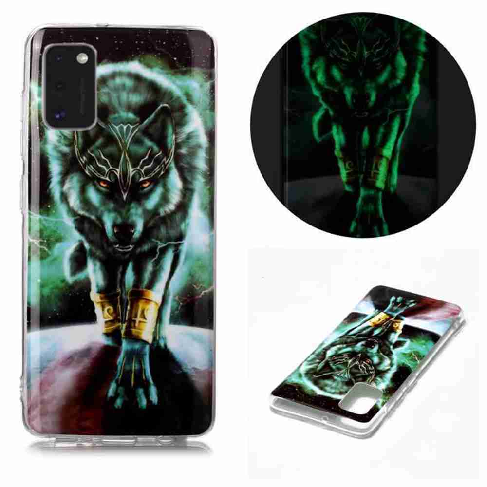 Luminous Painted Upscale TPU Phone Case for Samsung Galaxy A41 - Multi-B