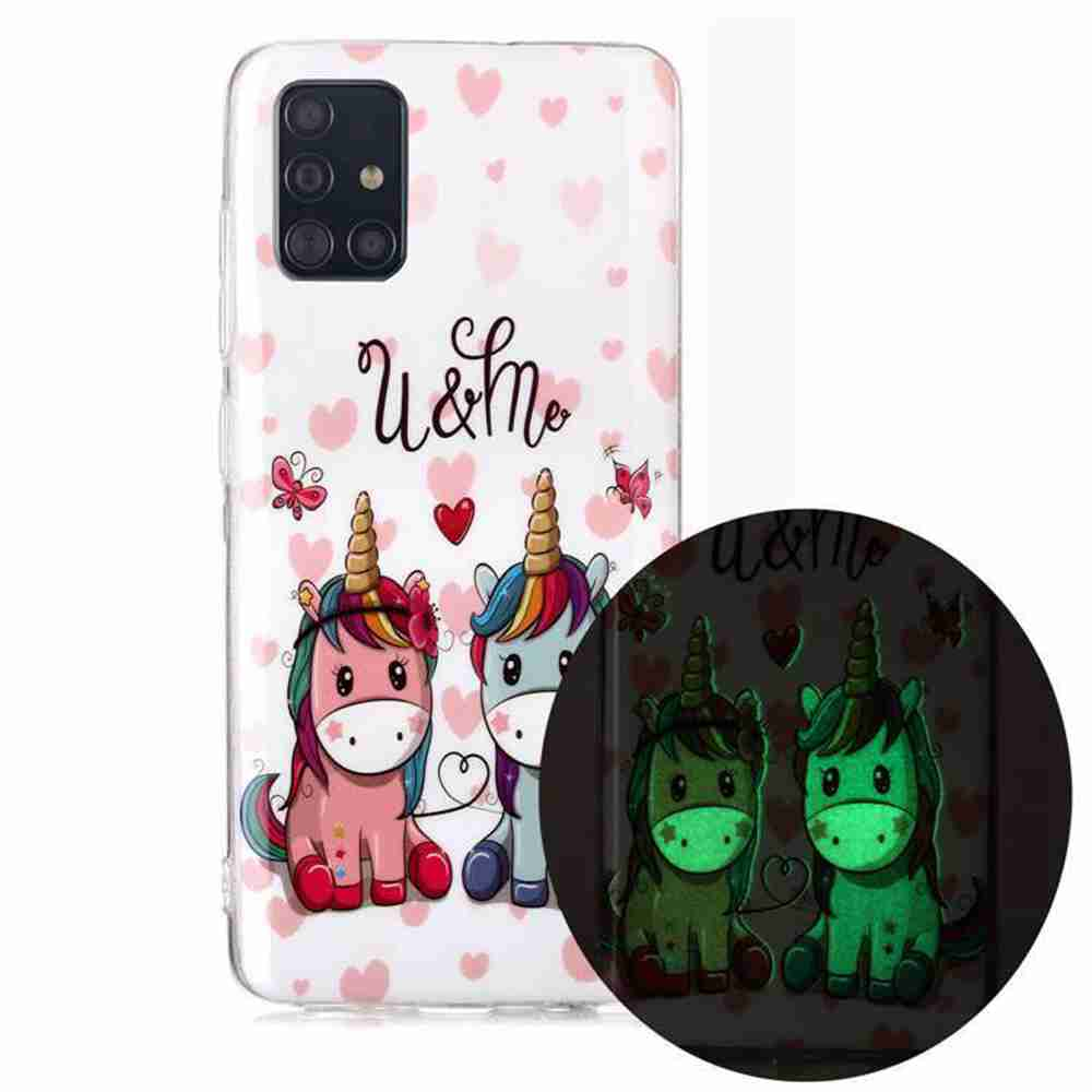 Luminous Painted Upscale TPU Phone Case for Samsung Galaxy A51 / M40S - Multi-H