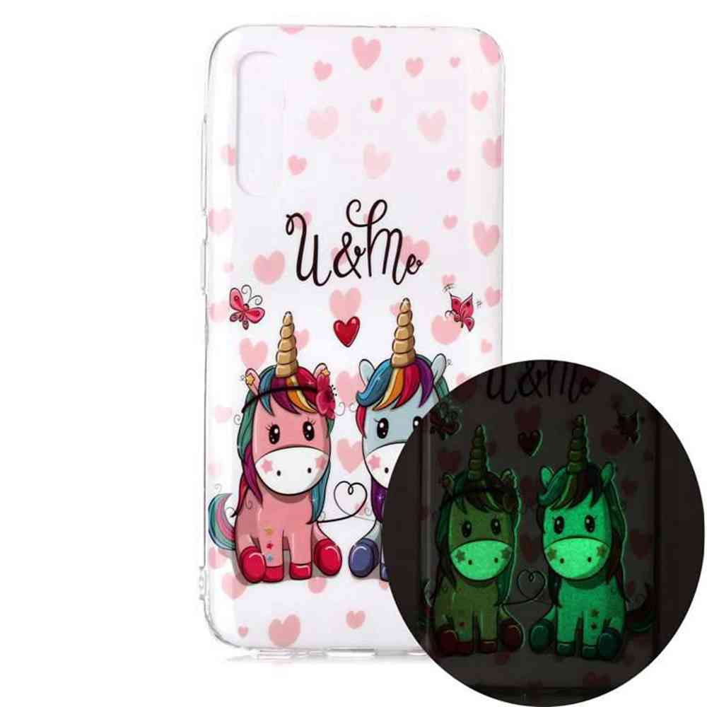 Luminous Painted Upscale TPU Phone Case for Samsung Galaxy A70 - Multi-C