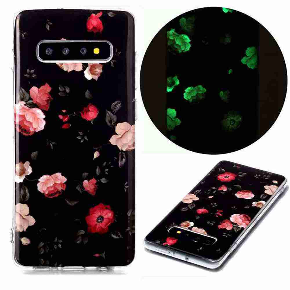 Luminous Painted Upscale TPU Phone Case for Samsung Galaxy S10 Plus - Multi-A