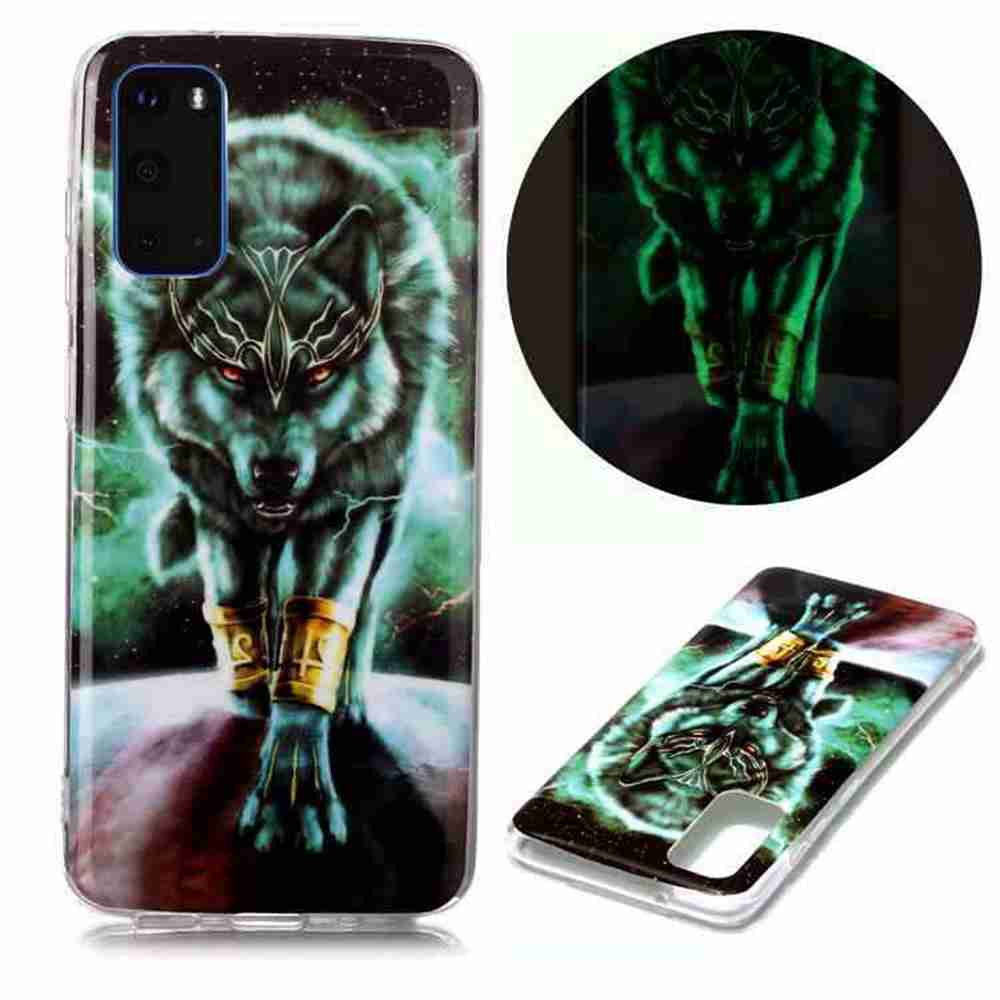 Luminous Painted Upscale TPU Phone Case for Samsung Galaxy S20 - Multi-A