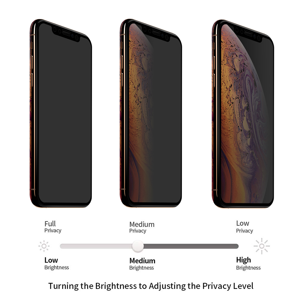 ENKAY 0.26mm 9H 2.5D 2.5D Full-screen Tempered Glass Screen Protector for iPhone XS / X / XS Max / XR - Black for iPhone XS MAX