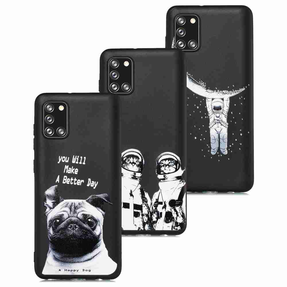 Frosted Painted TPU Phone Case for for Samsung Galaxy A41 - Multi-B