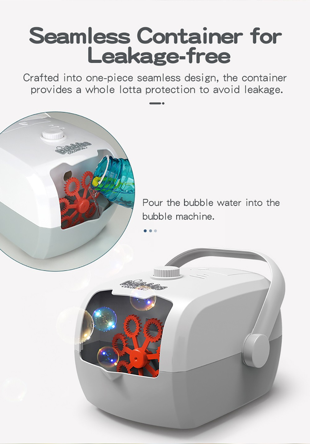 JJRC V08 Portable Rice Cooker Shape Children Bubble Machine Seamless Container for Leakage-free
