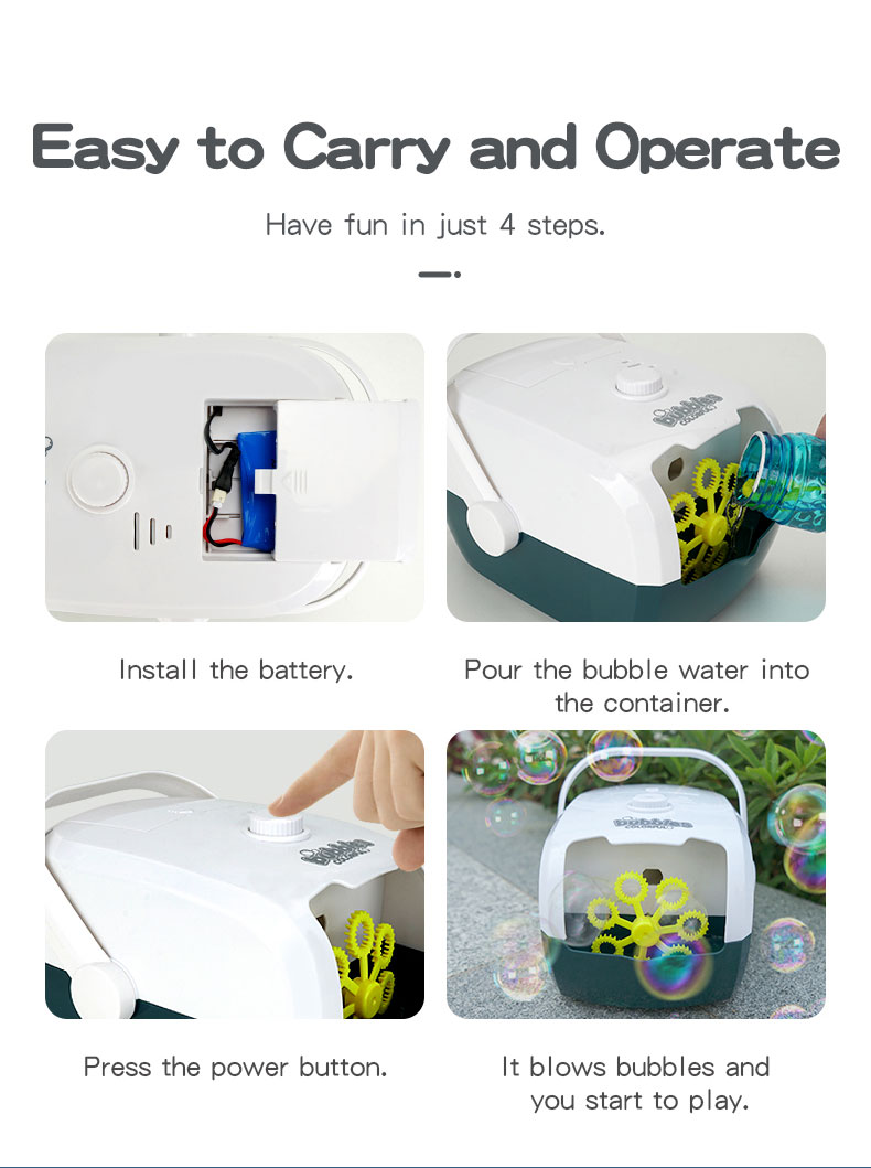 JJRC V08 Portable Rice Cooker Shape Children Bubble Machine Easy to Carry and Operate