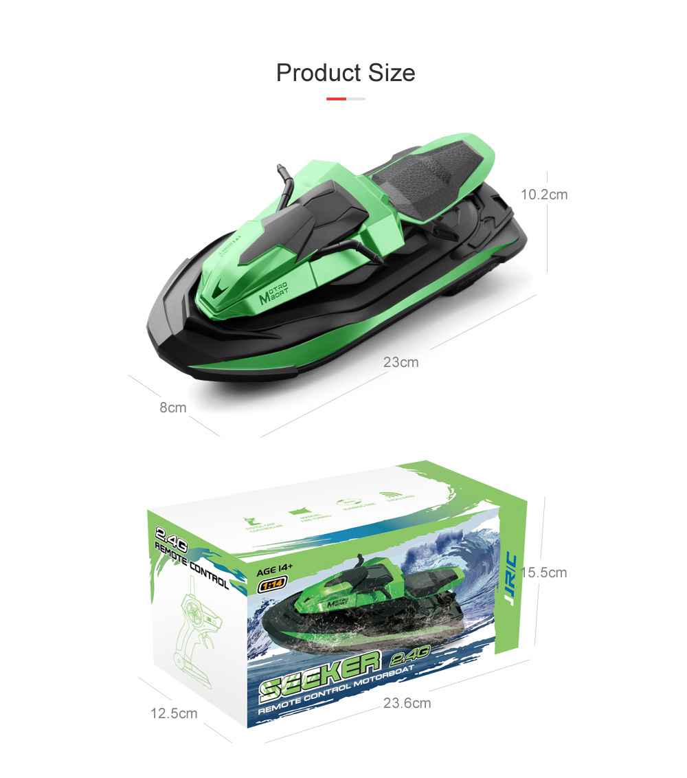 JJRC S9 Seeker 1:14 2.4 Remote Control Motor Remote Control Boat Rowing - Blue