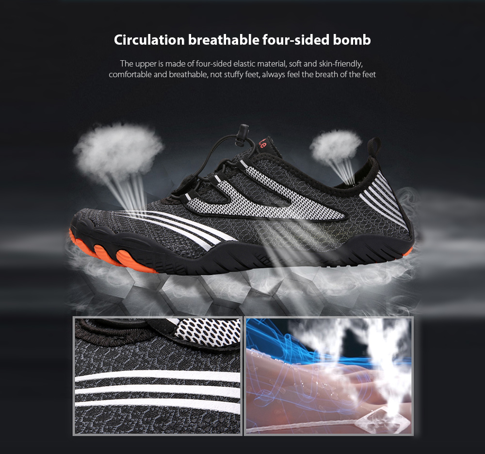 AILADUN Men Shoes Circulation breathable four-sided bomb