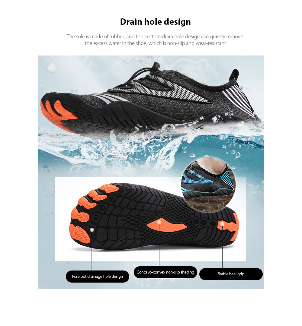 AILADUN Men Shoes Drain hole design